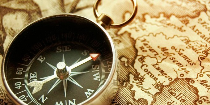 Компас и карта